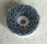 優惠供應各種規格pvc園盤刷,發動機機體除毛刺磨料絲圓盤刷