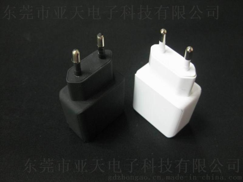 5v2.1a+1a两个USB欧规充电器 双USB充电器欧规 CE和ROHS认证