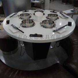 众美德专业生产各类餐桌,火锅桌,大理石餐桌