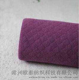 针织夹棉保暖面料/精梳纯棉空气层布匹/宝宝贴身布料 纯色