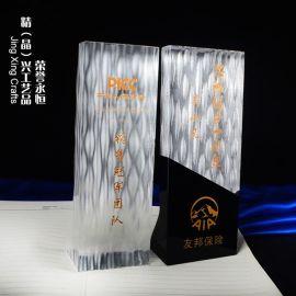 荣耀永恒水晶奖杯 高端定制公司企业周年庆典商务纪念品