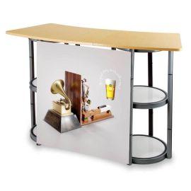常州促销台厂家 展会展架广告展示架 超市促销桌 折叠旋转促销台