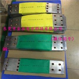 金泓-绝缘套管套铜编织导电带,铜编织带软连接,定制更多不同规格