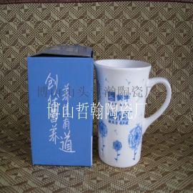 厂家直销色釉陶瓷杯可印制logo促销杯水杯咖啡杯
