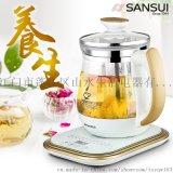 sansui/山水 KT-881养生壶 玻璃电热水壶 煮茶煎药壶