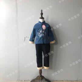 儿童汉服中国风儿童唐装冬加厚男女童套装儿童过年服