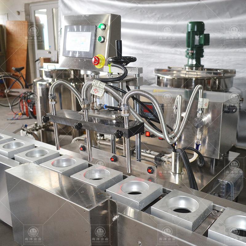 全自动二次灌装机全自动双皮奶杯装定量灌装生产线