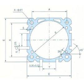 DNC铝合金薄型气缸管(J010)
