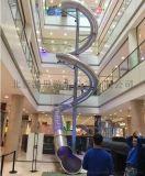 大型商场不锈钢滑梯304不锈钢滑梯非标原木树屋滑梯