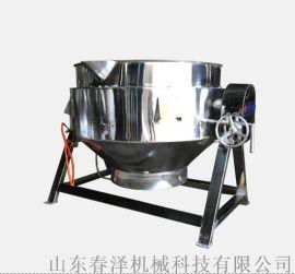 500L煮驴肉汤夹层锅 可倾斜带搅拌夹层锅