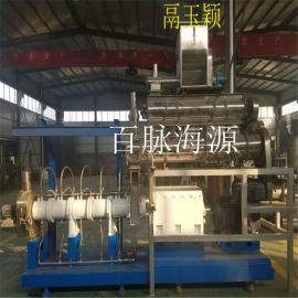 双螺杆玉米加工设备 貂狐饲料加工设备 大豆膨化机