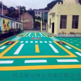 崇文區氣墊懸浮地板籃球場塑膠地板拼裝地板