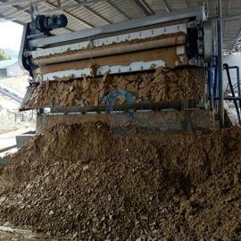 沙场河道污泥自动带式压滤机报价 泥浆压泥机定制