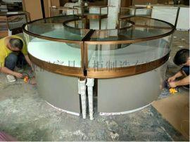 北京融润家具厂家制作木质玻璃珠宝玉器展示柜设计