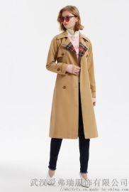 范姿女装拿货昆诗兰20年冬装新款女式风衣外套