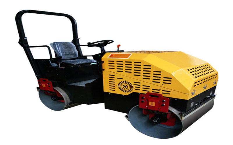 山东2吨小型手扶压路机 草坪压实机座驾式双轮压路机
