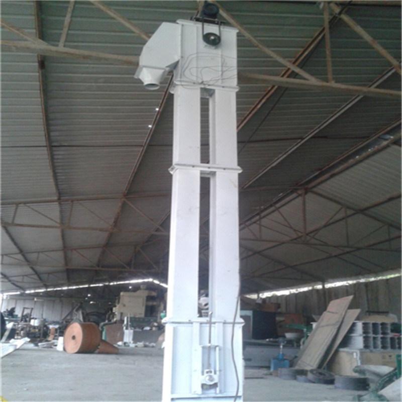 环保钢斗环链入仓用8米高颗粒斗提机Lj8