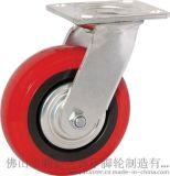 奔宇脚轮 4寸弧形双轴承聚氨酯活动轮 配套 奔宇脚轮 工业脚轮