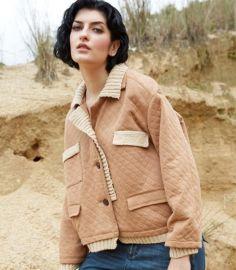 杰然不同外套女2015秋冬新款 欧洲站原创品牌菱形格棉宽松舒适 爆款外套