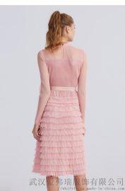 卡嘉西2020早春套頭五分袖拼接裙子服裝店多久拿貨