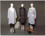 北京品牌折扣谷可女装桑蚕丝亚麻大衣货源