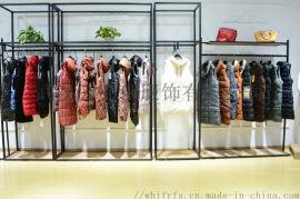 品牌折扣女装厂家贝洛一18新款羽绒服针织衫