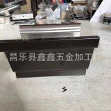 北京工程用铝合金接水槽 成品铝制檐槽有几种规格