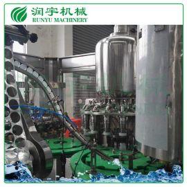 润宇机械塑料瓶铝膜牛奶灌装机,牛奶玻璃瓶热灌装生产线
