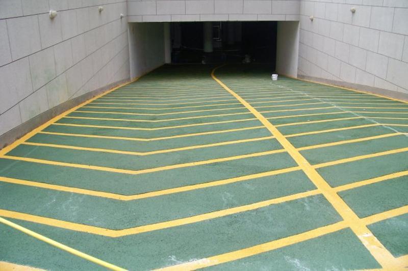 厂房环氧砂浆地坪漆 地下车库自流地坪漆 无振动止滑车道涂装系统