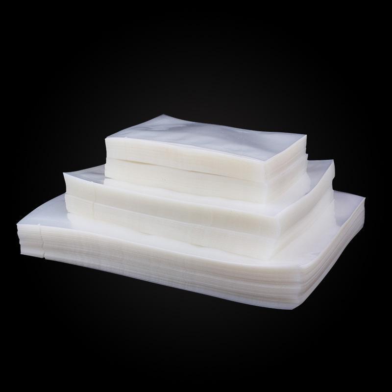 食品真空袋塑料透明真空包装袋三边封袋平口热封茶叶封口袋批发