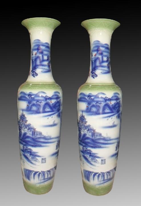 中国景德镇陶瓷大花瓶