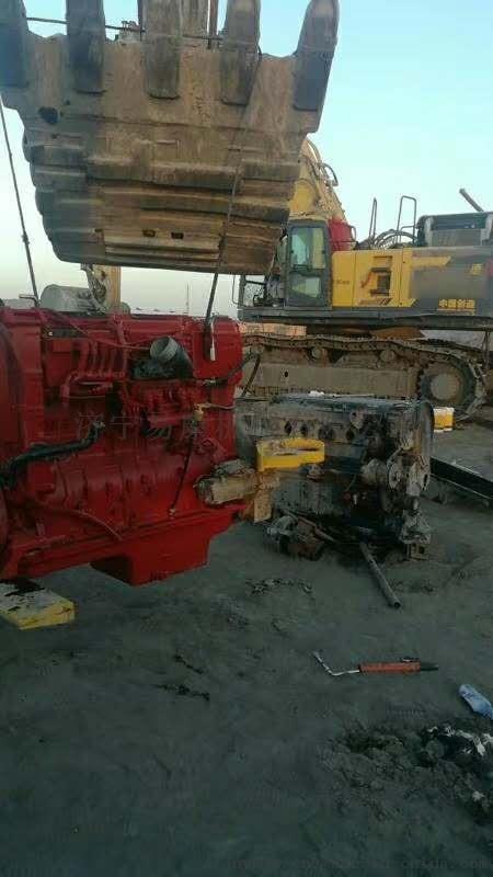 康明斯发动机维修站 NT855现场大修