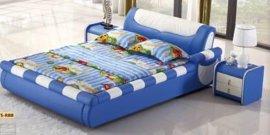 佛山市怡神家具软床实木床真皮床儿童软床双人床