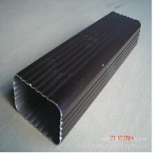 厂家供应淄博阳光房用蒂美铝合金8*6矩形雨水管,成品天沟,配件齐全、安装规范