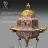 大型室內客廳仿景泰藍藝術花瓶|景泰藍裝飾花瓶
