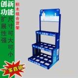 上海富礼工贸批发商场超市卖场塑料阶梯货架 展会促销货架 纯甄产品展示架