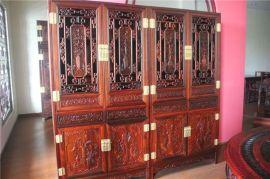 红木家具鸡翅木书柜 中式实木陈列柜 明清仿古玻璃柜