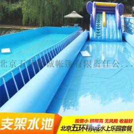定做充气游泳池成人加厚特大型儿童乐园充气圆形方形水池沙池户外