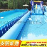 定做充氣游泳池成人加厚特大型兒童樂園充氣圓形方形水池沙池戶外