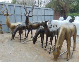 小区景观   雕塑 抽象仿真鹿雕塑摆件 玻璃钢   厂家