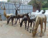 小區景觀   雕塑 抽象模擬鹿雕塑擺件 玻璃鋼   廠家