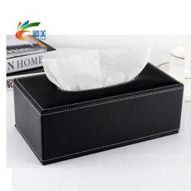 车用纸巾盒 **皮质纸巾盒 抽纸式纸巾盒