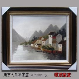 风景油画批发SX-2 江南水乡油画清货 学院派
