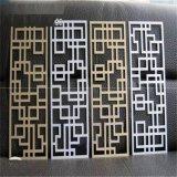 供应复古木纹艺术窗花铝格栅