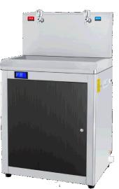 佛山中泉60人用一开一温饮水机,温热节能饮水机,节能型工厂员工用饮水机