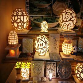 砂岩雕塑 酒店装修 欧式发光灯饰 大堂柜面点缀砂岩灯罩