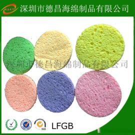 深圳海绵厂家 供应 清洁木浆棉、压缩木浆棉、烙铁清洁海绵、彩色木浆棉