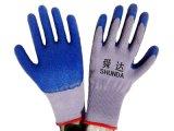21支紗乳膠起皺勞保手套防滑耐磨HSL01