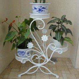 聚天月户外花园铁艺白色花架