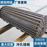 【热销供应】清洗机链板 不锈钢输送链板 冲孔链板 规格按需定做